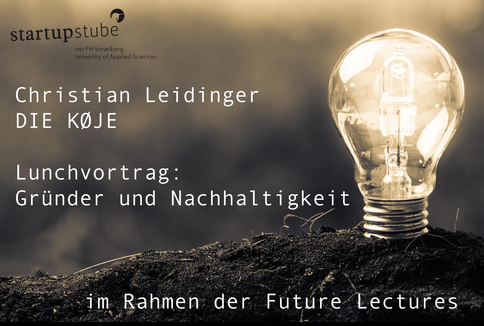 Lunchvortrag: Gründerinnen, Gründer und Nachhaltigkeit
